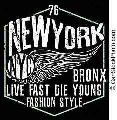 newyork, ciudad, diseño gráfico, tipografía