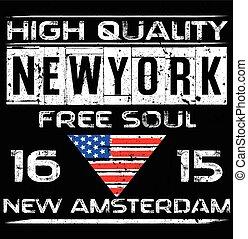 newyork, ciudad, diseño, tipografía, cartel