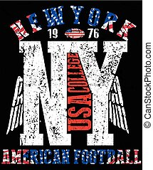 Newyork College Tee fashion logo graphic design