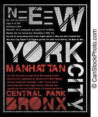 newyork, diseño gráfico, tipografía