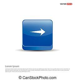 Next Arrow Icon - 3d Blue Button