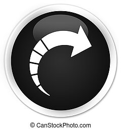 Next arrow icon black glossy round button