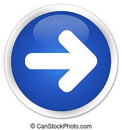 Next arrow icon blue glossy round button