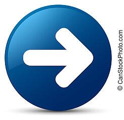 Next arrow icon blue round button