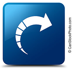 Next arrow icon blue square button