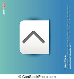 Next Arrow Icon - Blue Sticker button