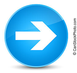 Next arrow icon elegant cyan blue round button