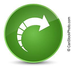 Next arrow icon elegant soft green round button