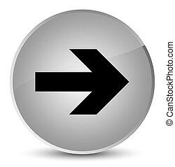 Next arrow icon elegant white round button