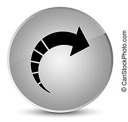 Next arrow icon elegant white round button