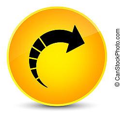 Next arrow icon elegant yellow round button
