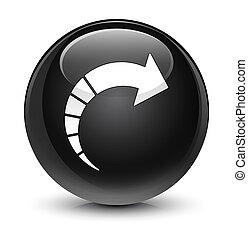 Next arrow icon glassy black round button