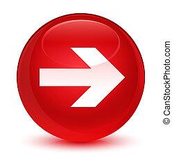 Next arrow icon glassy red round button