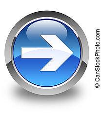 Next arrow icon glossy blue round button 4