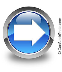 Next arrow icon glossy blue round button