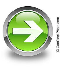 Next arrow icon glossy green round button 4