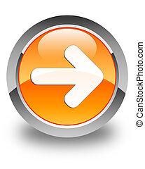 Next arrow icon glossy orange round button 2