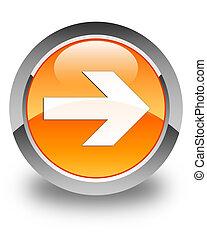 Next arrow icon glossy orange round button 4