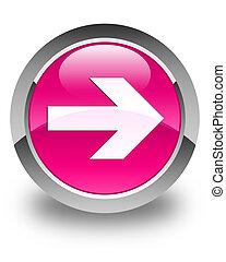 Next arrow icon glossy pink round button