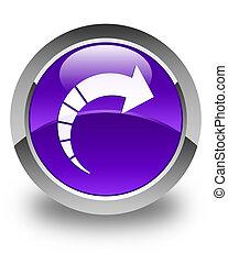 Next arrow icon glossy purple round button