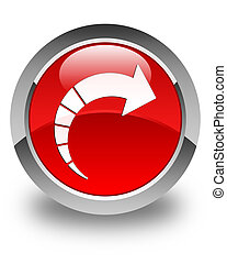Next arrow icon glossy red round button