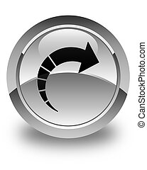 Next arrow icon glossy white round button