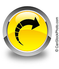 Next arrow icon glossy yellow round button