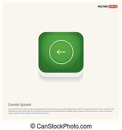 Next arrow icon Green Web Button