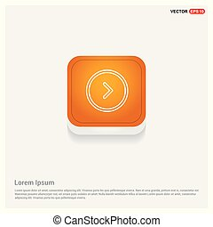 Next arrow icon Orange Abstract Web Button