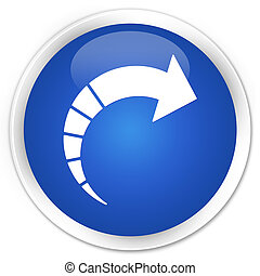 Next arrow icon premium blue round button