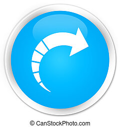 Next arrow icon premium cyan blue round button