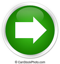 Next arrow icon premium green round button