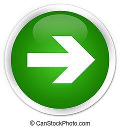 Next arrow icon premium green round button