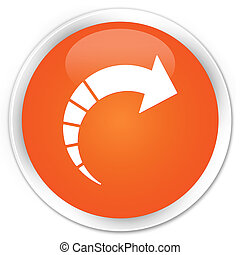 Next arrow icon premium orange round button