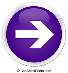 Next arrow icon premium purple round button