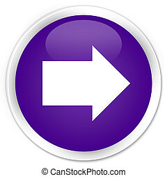 Next arrow icon premium purple round button