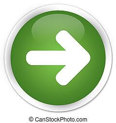 Next arrow icon premium soft green round button