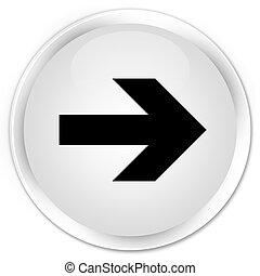 Next arrow icon premium white round button