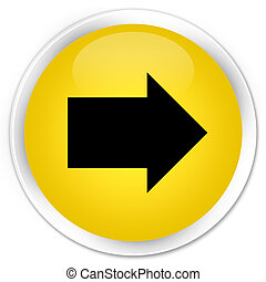 Next arrow icon premium yellow round button