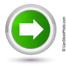 Next arrow icon prime green round button