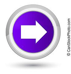 Next arrow icon prime purple round button