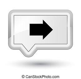 Next arrow icon prime white banner button