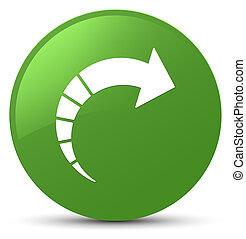 Next arrow icon soft green round button