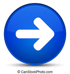 Next arrow icon special blue round button