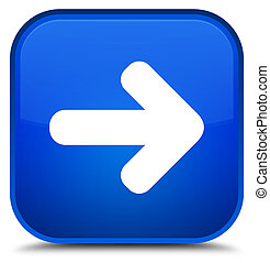 Next arrow icon special blue square button