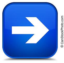 Next arrow icon special blue square button