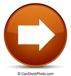 Next arrow icon special brown round button
