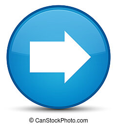 Next arrow icon special cyan blue round button
