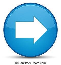 Next arrow icon special cyan blue round button