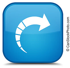 Next arrow icon special cyan blue square button